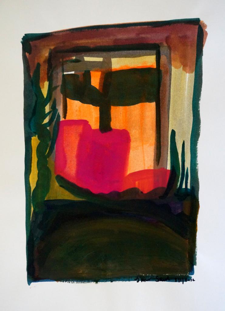Abstraction encre sur papier